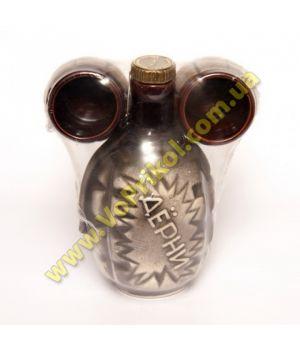 Бутылка Дерни - штоф для водки, самогона, вина + рюмки