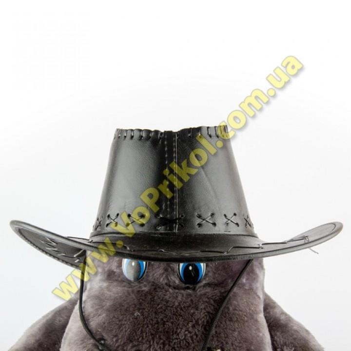Шляпа Ковбоя кожаная