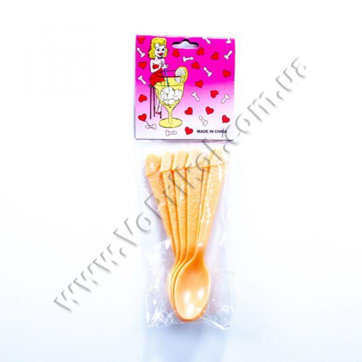 Набор ложек пластиковый сексуальный