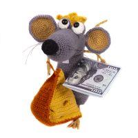Мышь Крыса вязаная