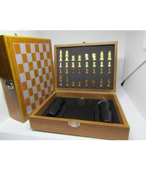 Подарочный набор с флягой Шахматы