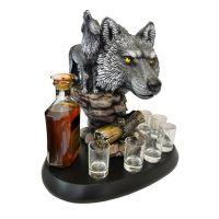 Штоф волк с волчицей