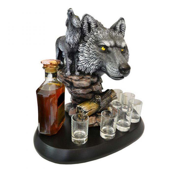 Штоф волк с волчицей купить недорого Киев Белая Церковь Фастов Васильков Украина