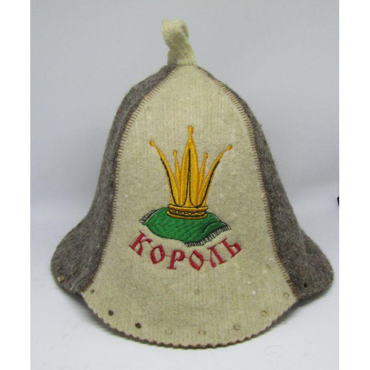Шапка для бани Королева Король купить недорого Киев Белая Церковь Фастов Васильков Украина