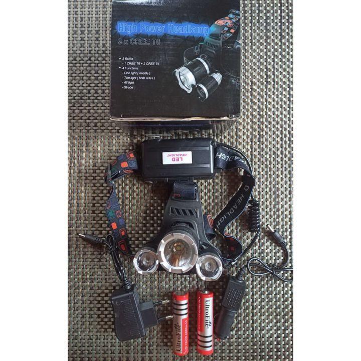 Фонарик налобный 3X CREE T6 на аккумуляторе купить недорого Киев Белая Церковь Фастов Васильков Украина