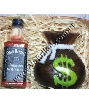 """Мыло натуральное """"Виски.Мешок денег"""" подарочное"""