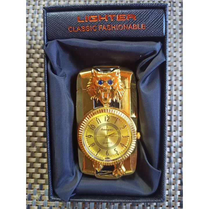 Зажигалка газовая c часами подарочная купить недорого Киев Белая Церковь Фастов Васильков Украина