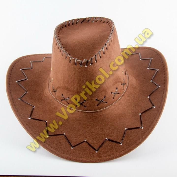 Шляпа  Ковбоя замшевая